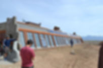 Waybee Earthship rental academy tour in Taos New Mexico