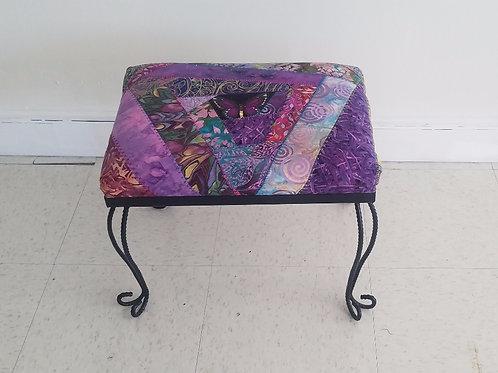 Repurposed Purple Footstool