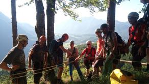 Bergung aus steilem Gelände