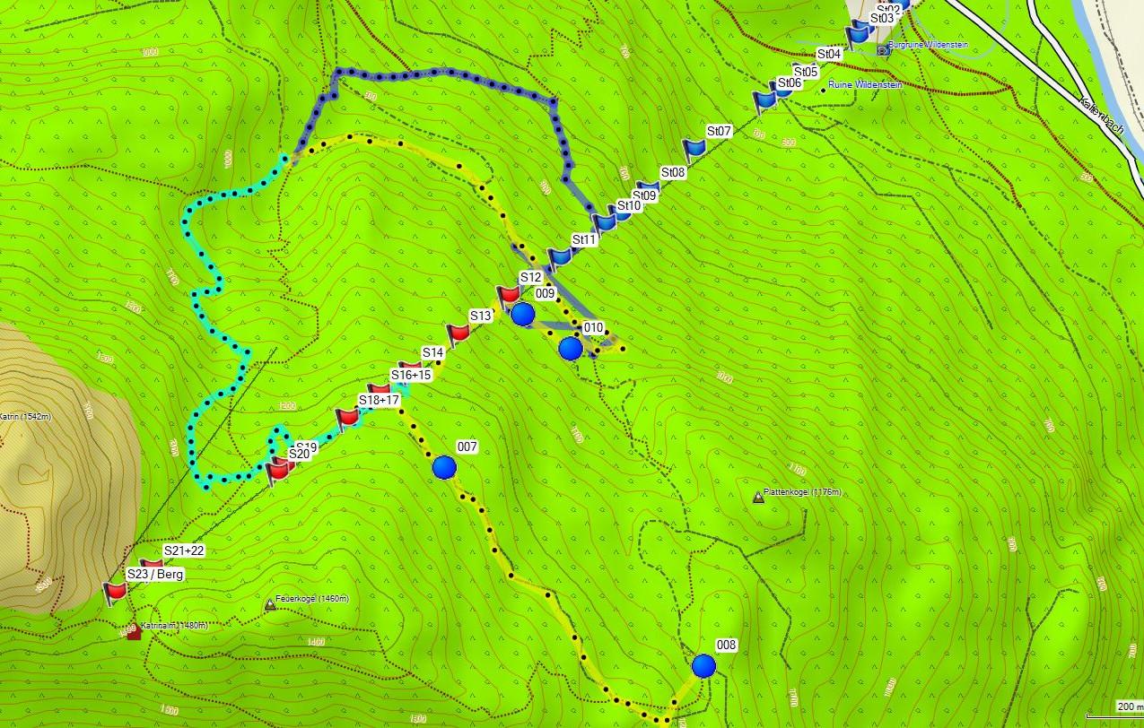 Bergeübung_Tracks_der_Gruppen_Topo_Austr