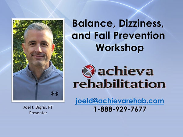 Balance Dizziness Fall Prevention May 28