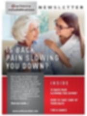 Back Pain Newsletter 1 Pic for Newslette