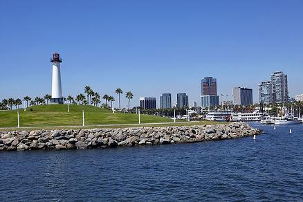 Long Beach lighthouse, Harbour, skyline