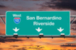 San Bernardino Riverside Interstate 10 w