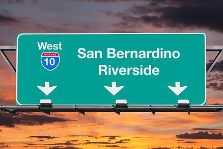 San Bernardino Riverside Interstate 10 w