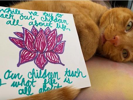 Local children, teens, & staff share uplifting artwork