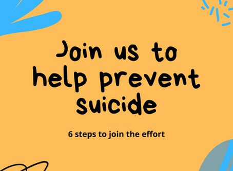 Take these six steps to join the effort to prevent suicide