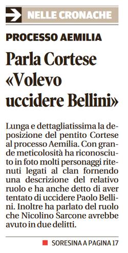 Tentai di uccidere Bellini