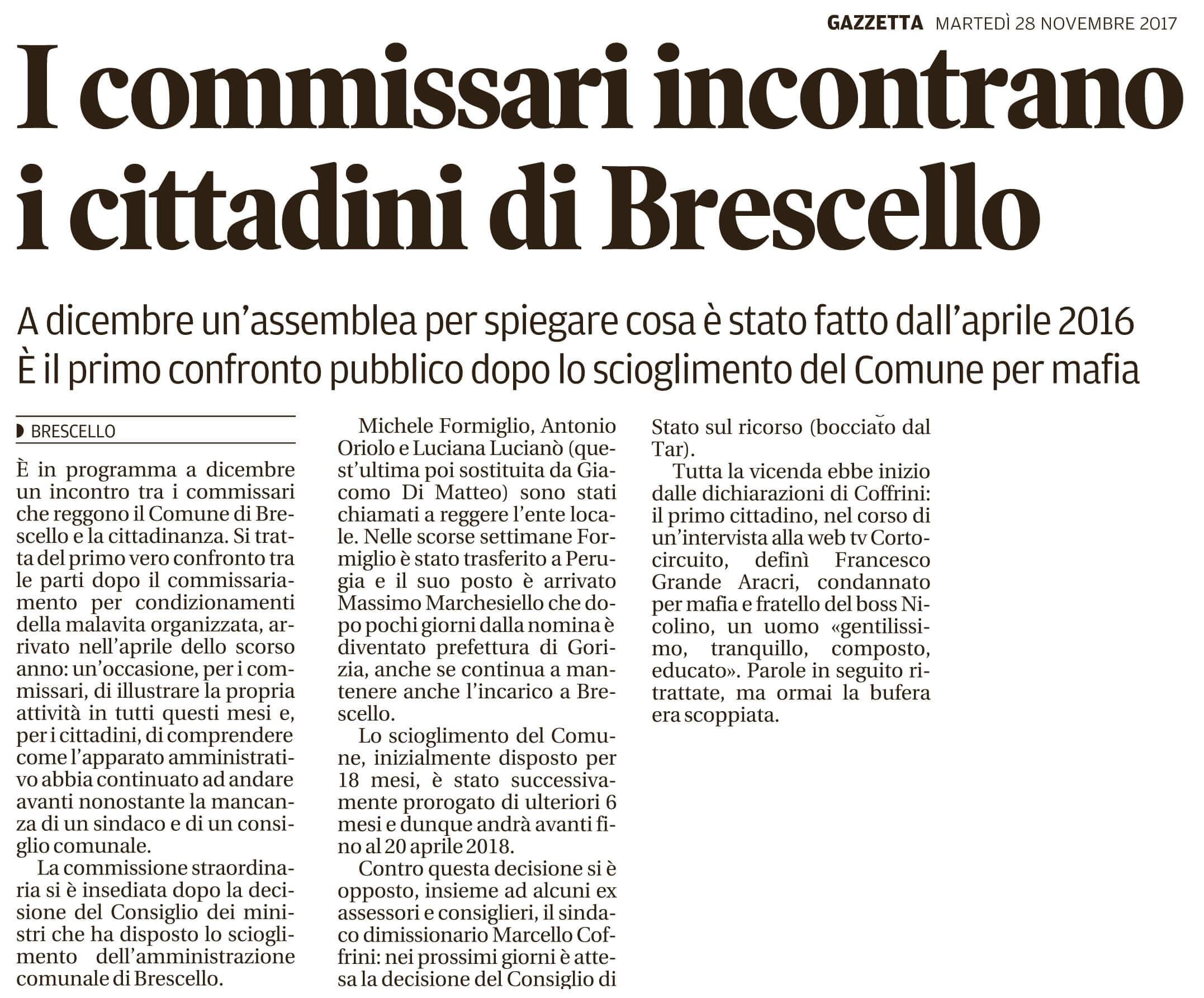 I commissari incontrano Brescello