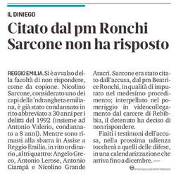 Sarcone non parla
