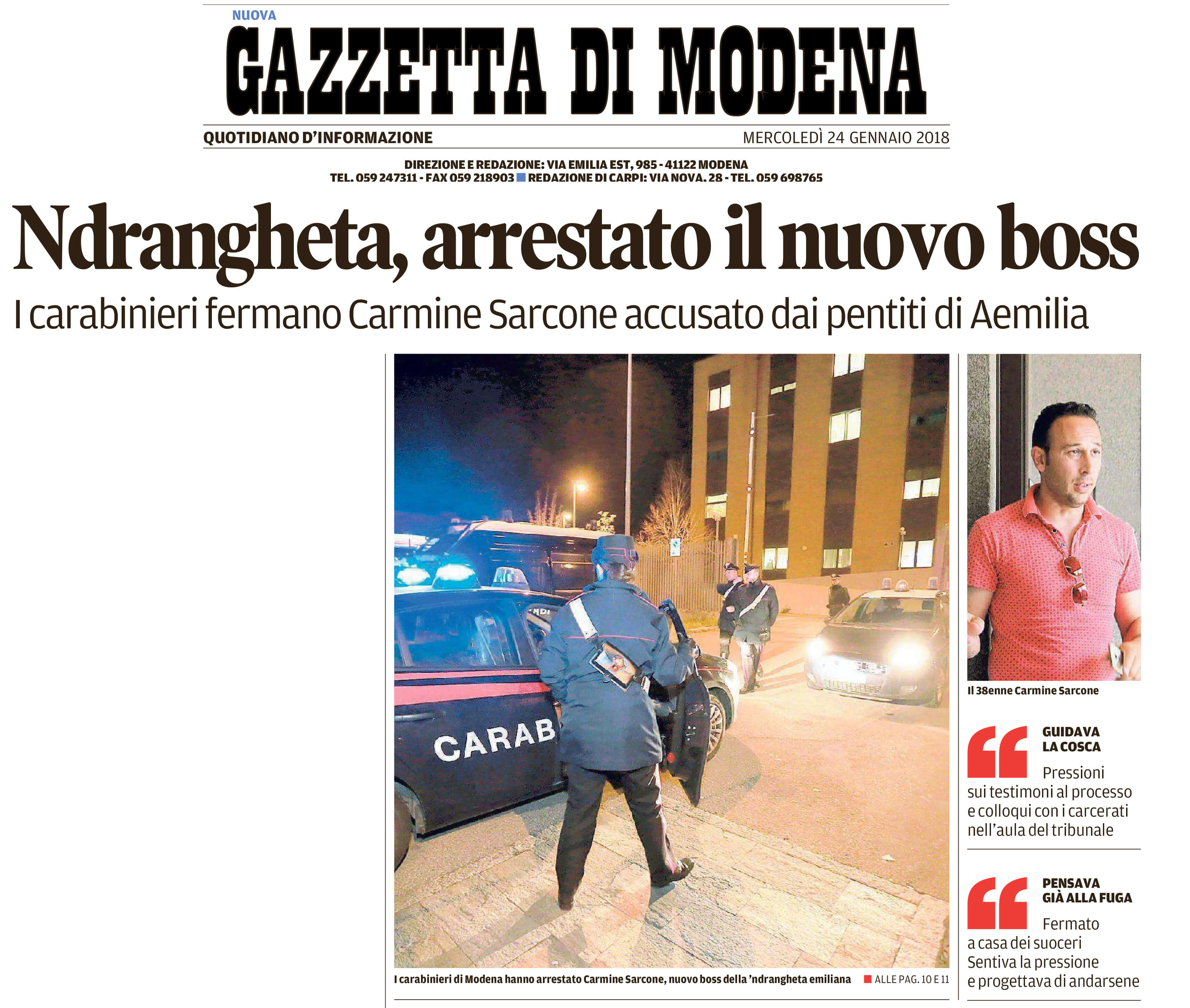 'Ndrangheta, arrestato!