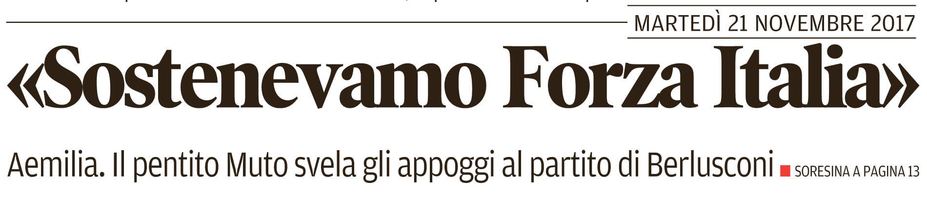 Sostenevamo Forza Italia