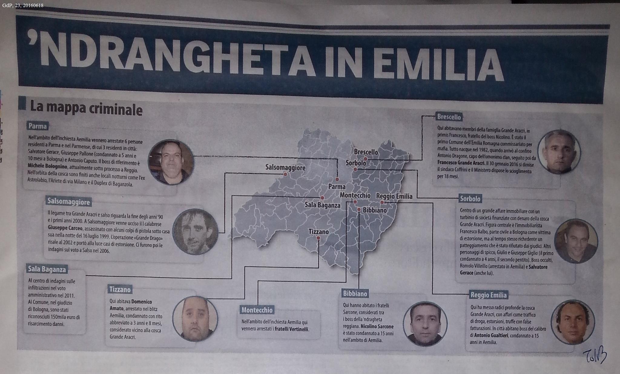 La 'Ndrangheta in ER
