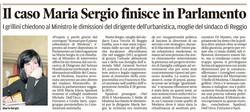 Il caso Sergio in Parlamento