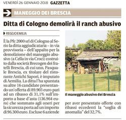 La demolizione del maneggio di Brescia