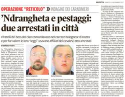 'Ndrangheta e pestaggi