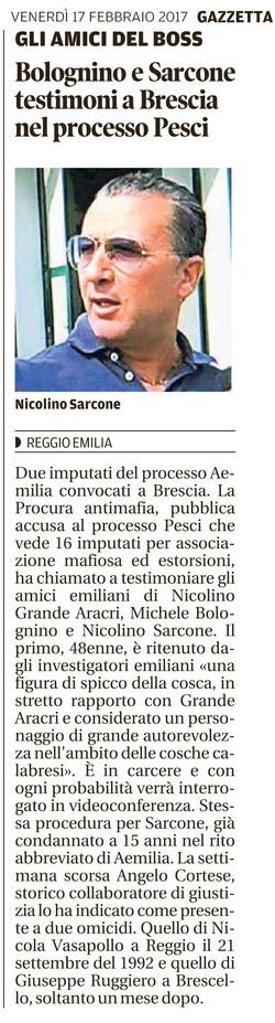 Bolognino e Sarcone testimoni