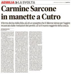 Carmine Sarcone in manette a Cutro