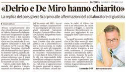 Delrio e De Miro hanno chiarito