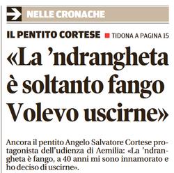 La 'ndrangheta è soltanto fango