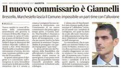 Giannelli nuovo commissario