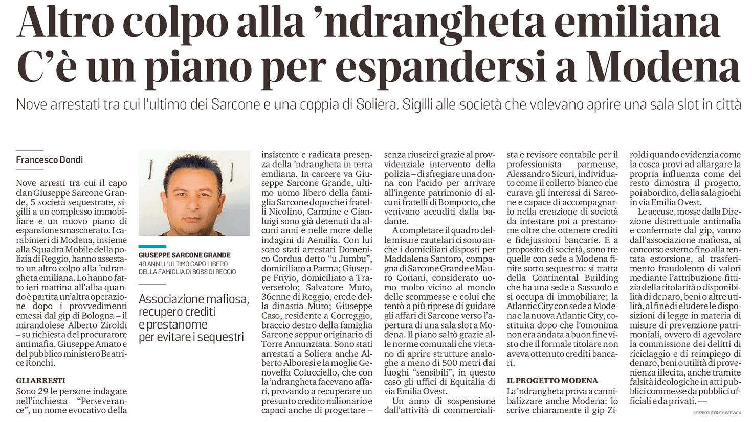 Un piano per espandersi a Modena