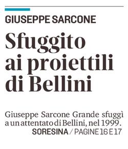 Sfuggito ai proiettili di Bellini