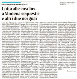 A Modena sequestri e due nei guai
