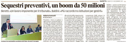 Sequestri: 50 milioni di euro