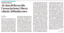 Libera chiede 200mila euro