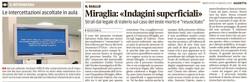 Miraglia: indagini superficiali