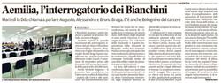 L'interrogatorio dei Bianchini