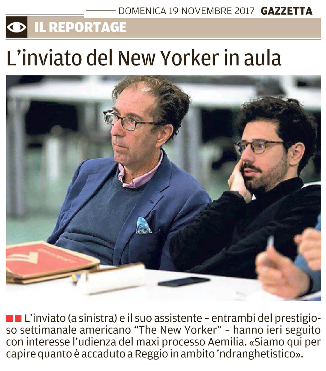 Il New Yorker in aula