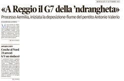 Il G7 della 'ndrangheta