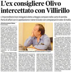 Olivo intercettato con Villirillo