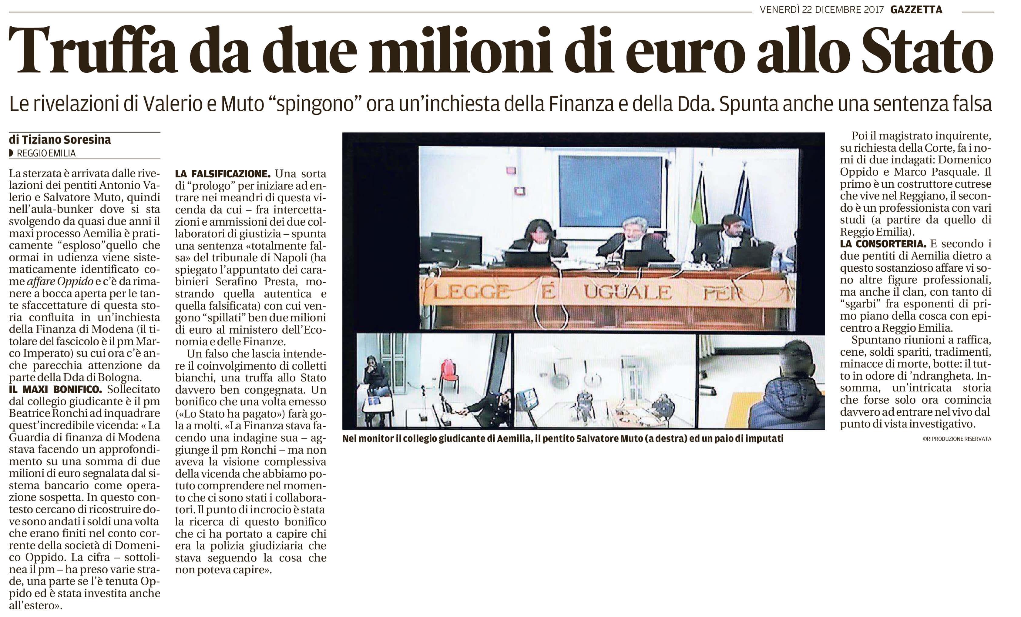Truffa da due milioni di euro