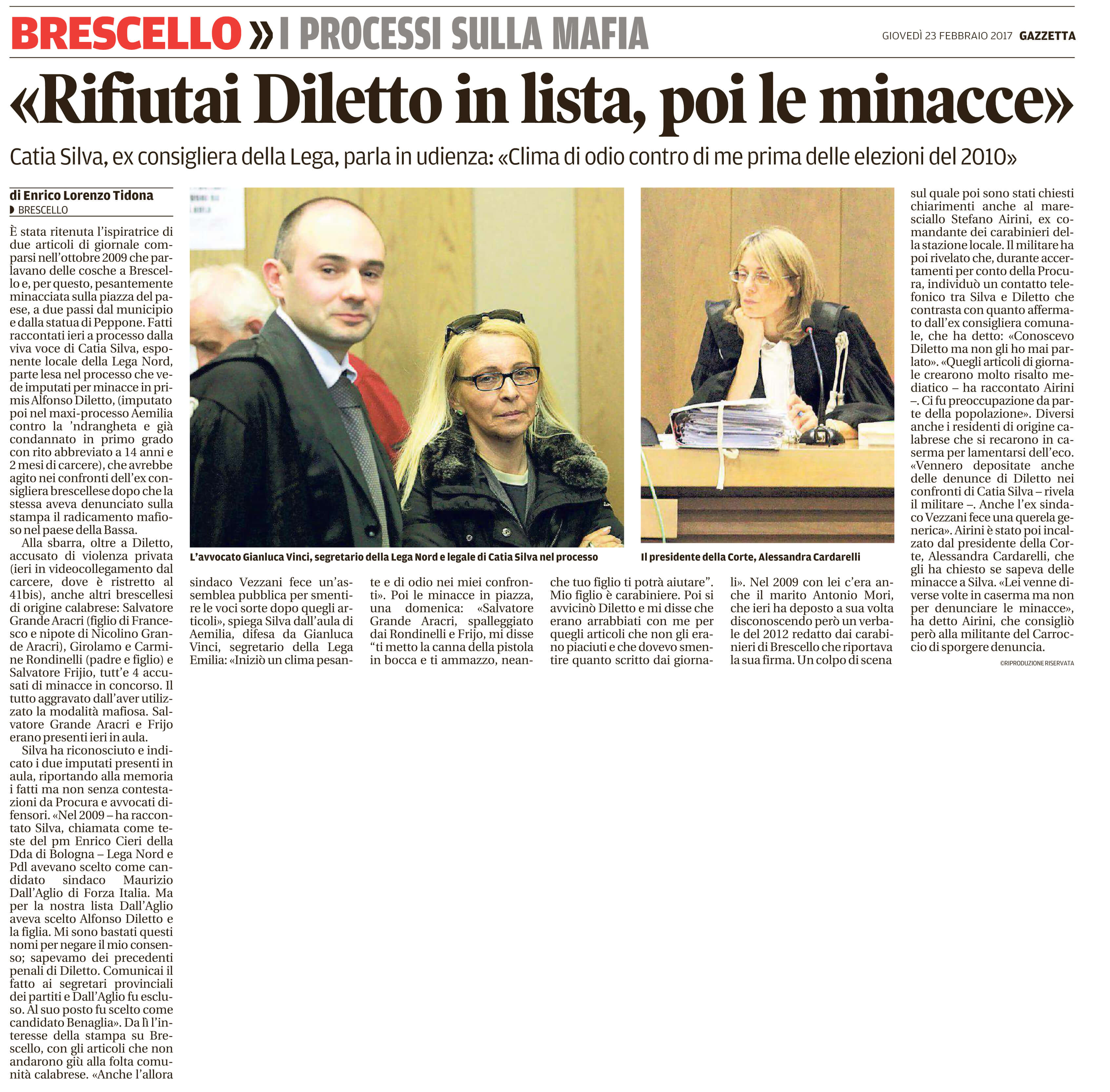 Rifiutai Diletto, poi le minacce