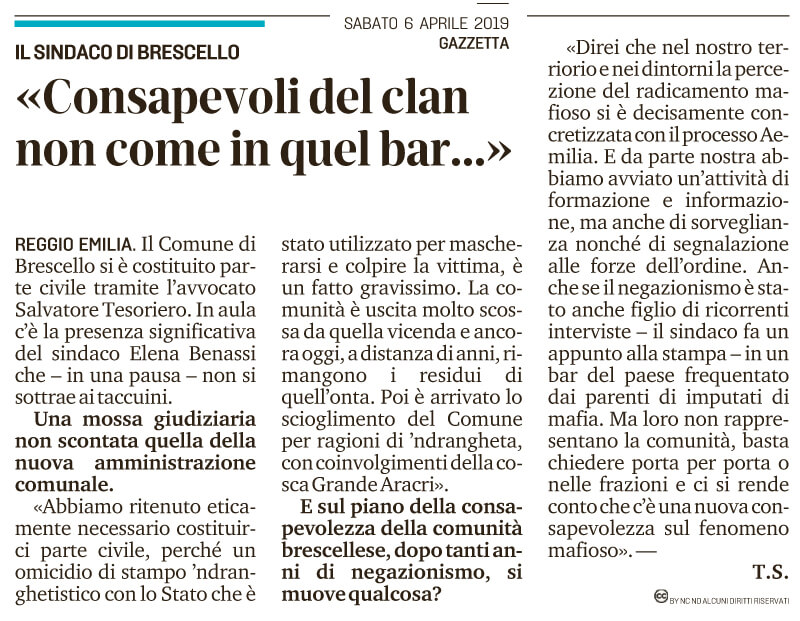 Brescello... non come in quel bar...