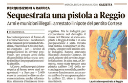 Sequestrata una pistola a Reggio