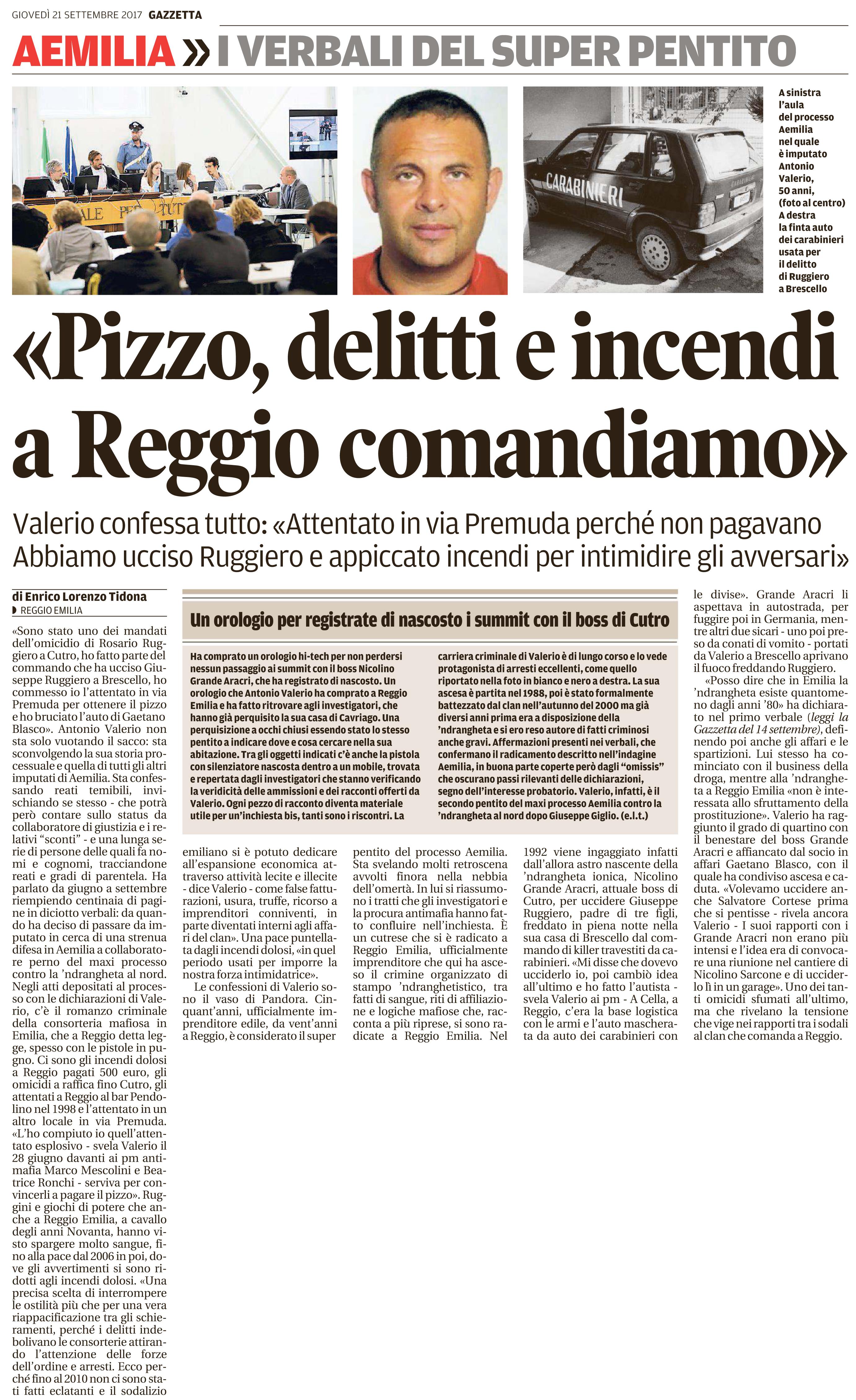 A Reggio comandiamo