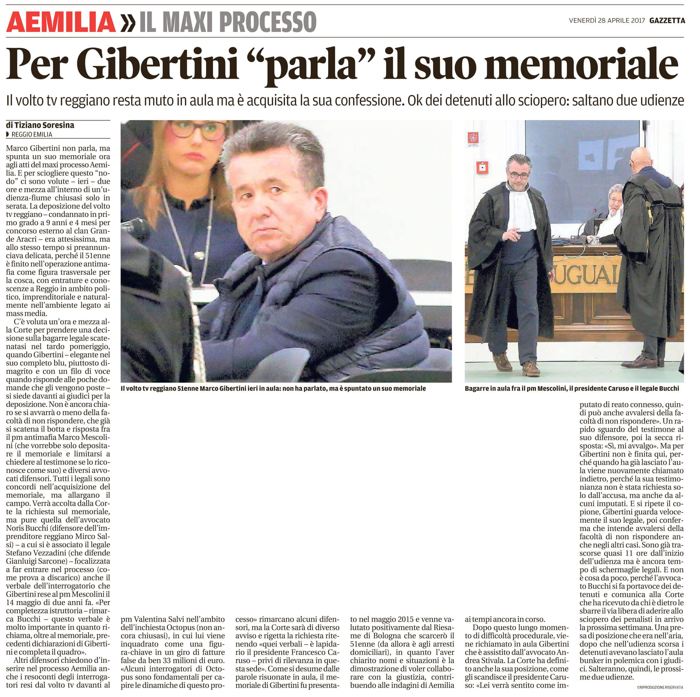 Parla il memoriale di Gibertini