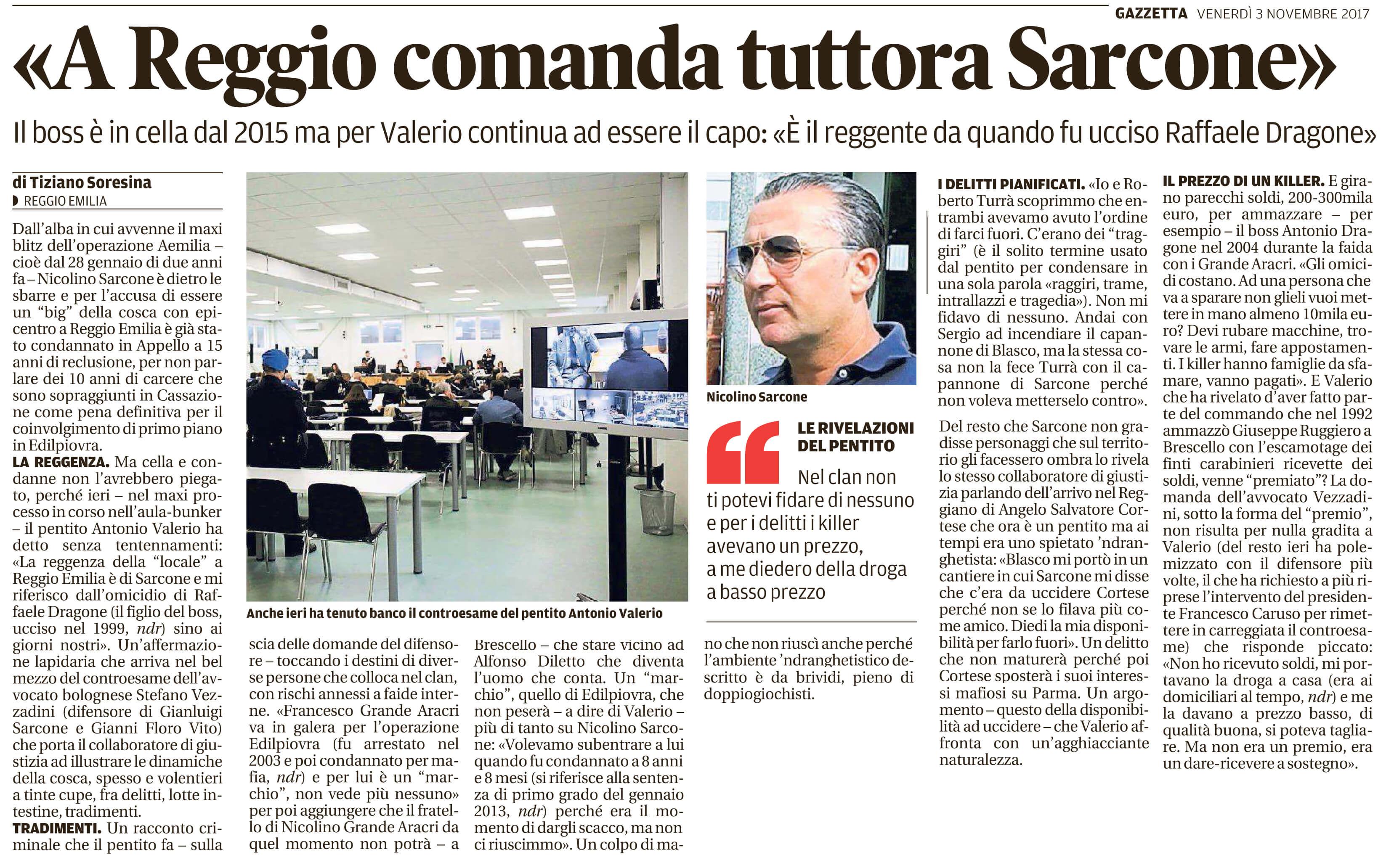 A Reggio comanda Sarcone