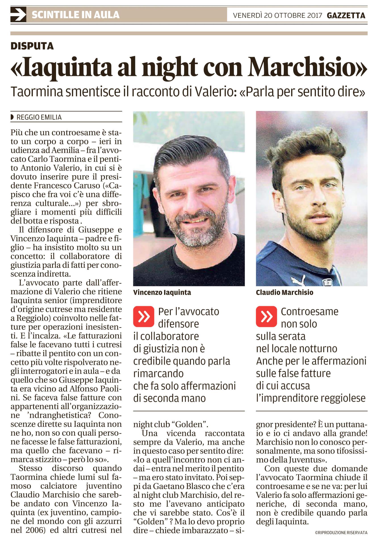 Iaquinta al night con Marchisio
