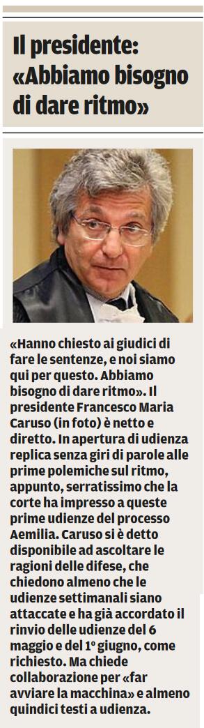 Il presidente Caruso