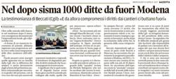 1000 ditte fuori da Modena