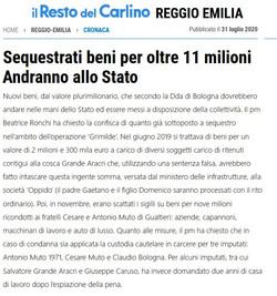 Sequestrati 11 milioni