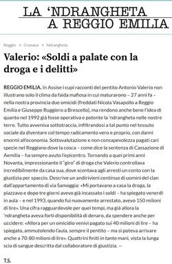 Valerio: soldi a palate