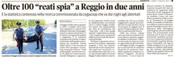 """Oltre 100 """"reati spia"""" a Reggio"""