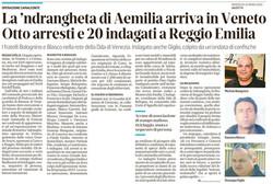 La 'ndrangheta arriva in Veneto
