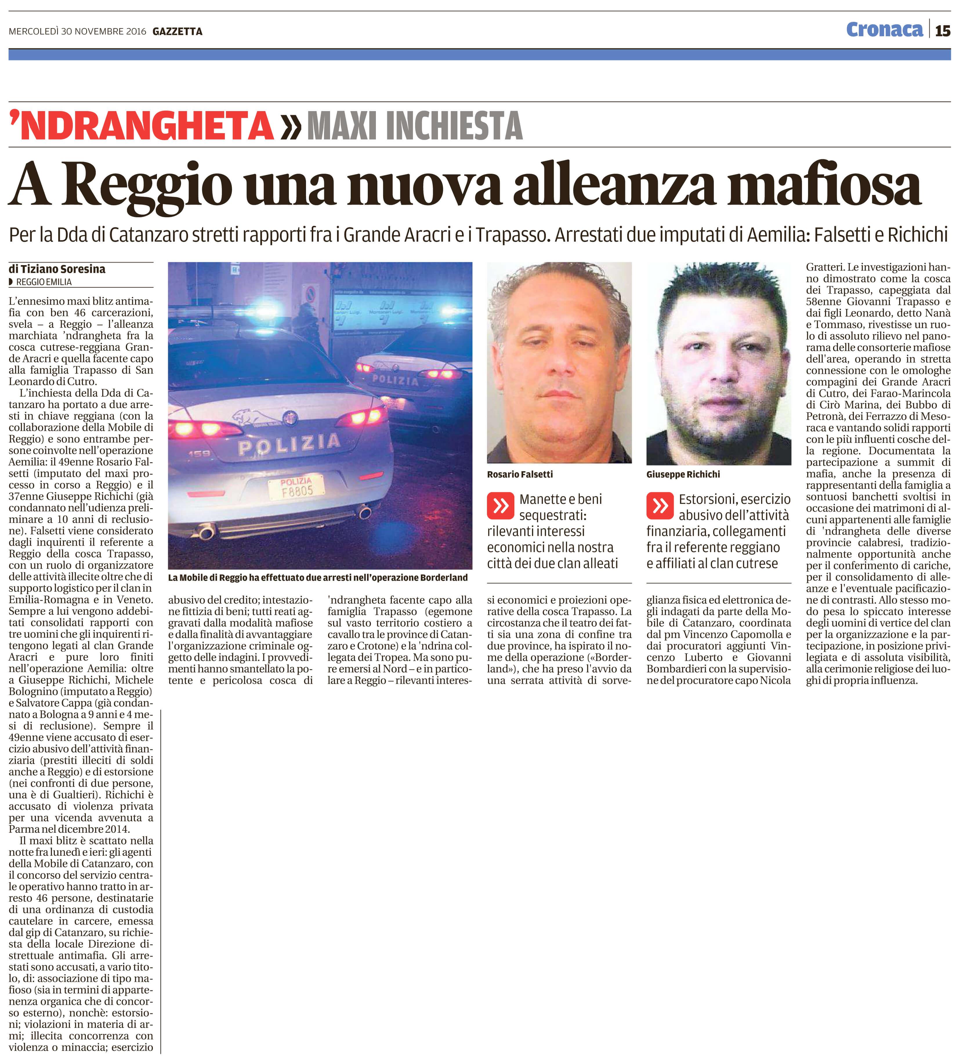 A Reggio una nuova alleanza mafiosa